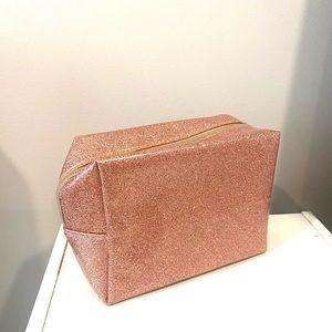 BEAUTY BIO MAKEUP BAG PINK SPARKLE ROSE GOLD